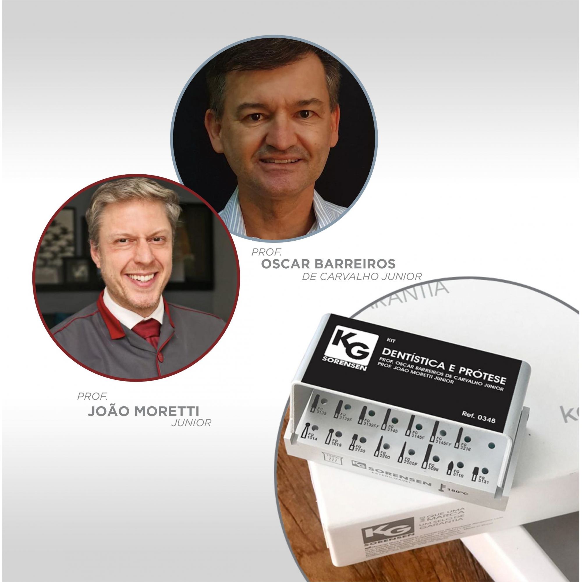 Kit Dentística e Prótese - Prof. Oscar Barreiros de Carvalho Junior e Prof. João Moretti Junior - Ref.: 0348 - KG SORENSEN