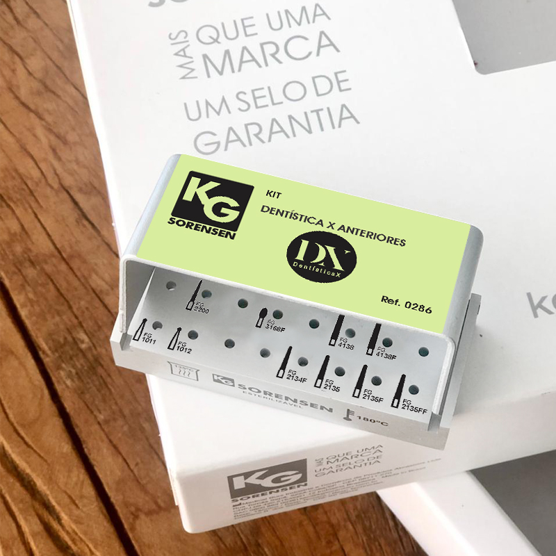 Kit  Dentística X Anteriores - Ref. 0286 - KG SORENSEN