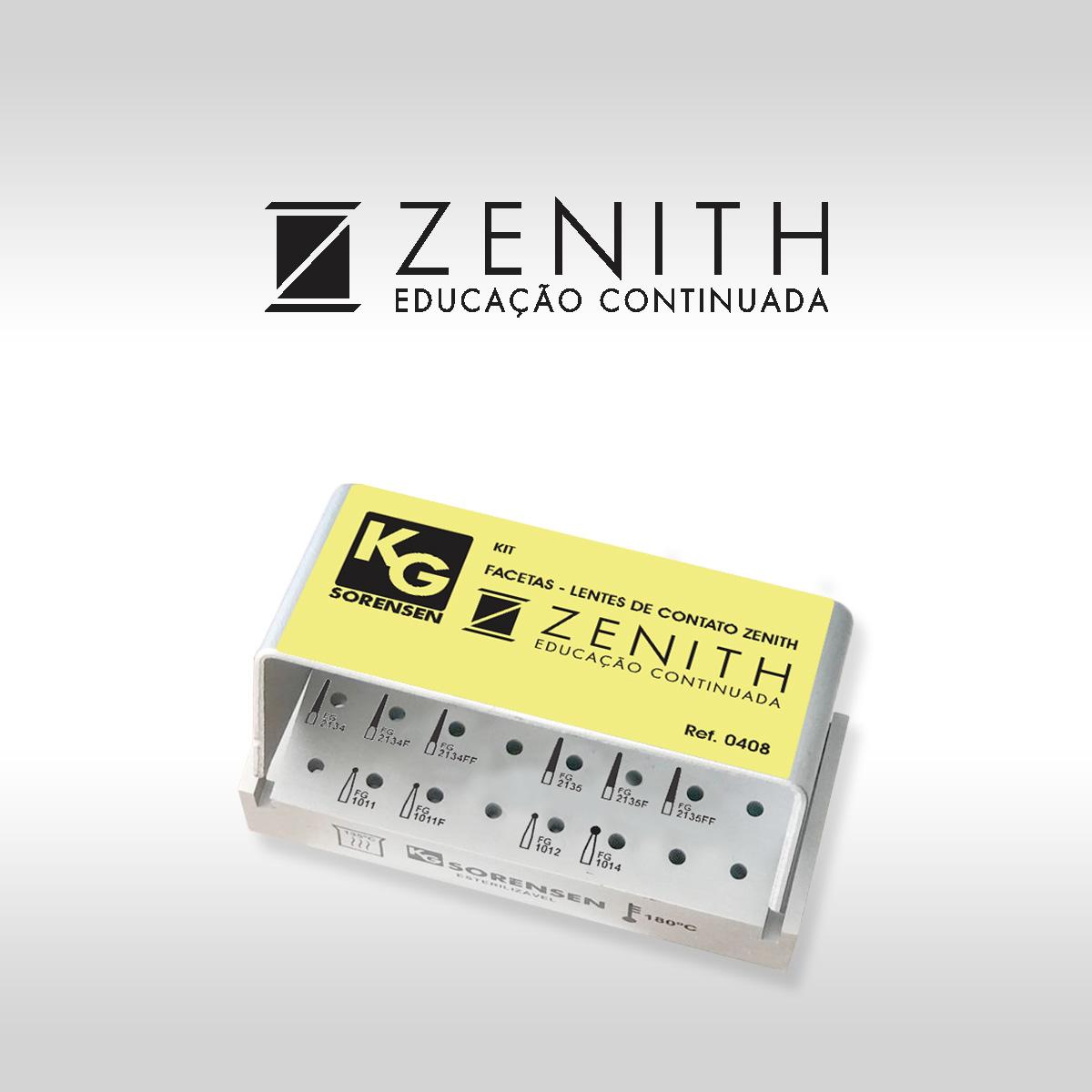 KIT FACETAS -LENTE DE CONTATO ZENITH - Ref 0408 - KG SORENSEN