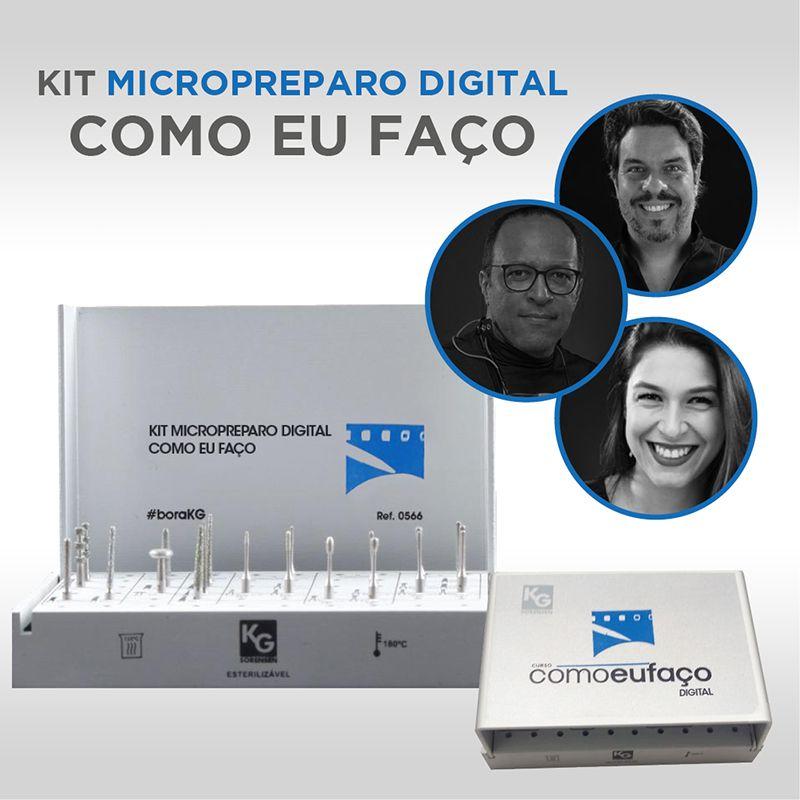 KIT MICROPREPARO COMO EU FAÇO - DR. ANDRE CALLEGARI, DR. RENATO FERREIRA E DRA. JULIANA DORNELLES - REF.0566 - KG SORENSEN