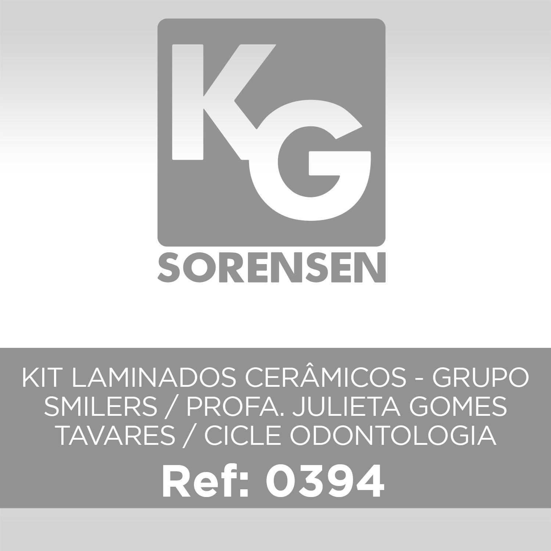 KIT LAMINADOS CERÂMICOS - GRUPO SMILERS / PROFA. JULIETA GOMES TAVARES / CICLE ODONTOLOGIA
