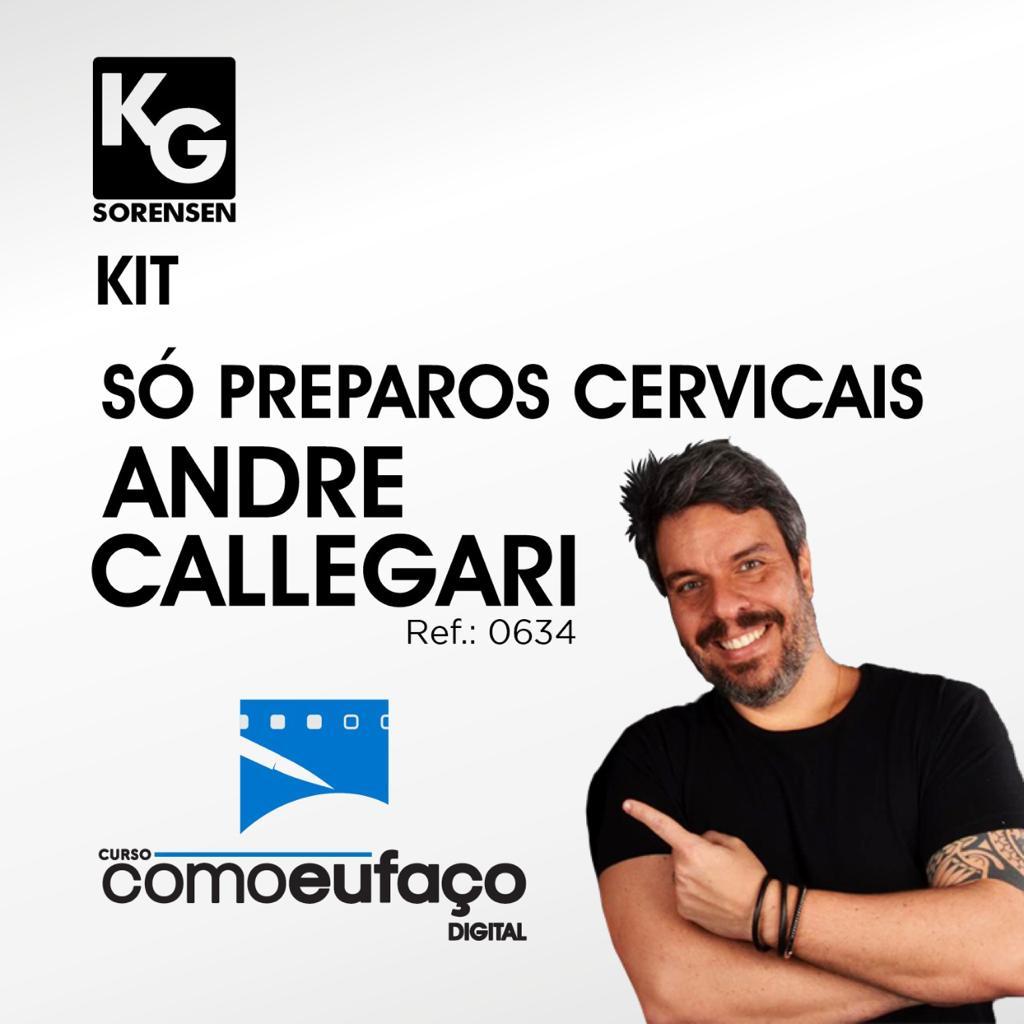 KIT MICROPREPARO - SÓ PREPAROS CERVICAIS - ANDRE CALLEGARI – COMO EU FAÇO – REF.0634 - KG SORENSEN