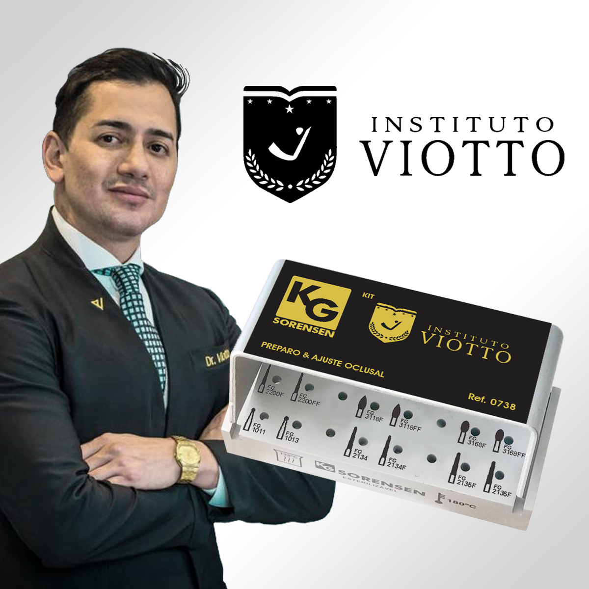 Kit Preparo & Ajuste Oclusal Instituto Viotto - Ref. 0738- KG SORENSEN