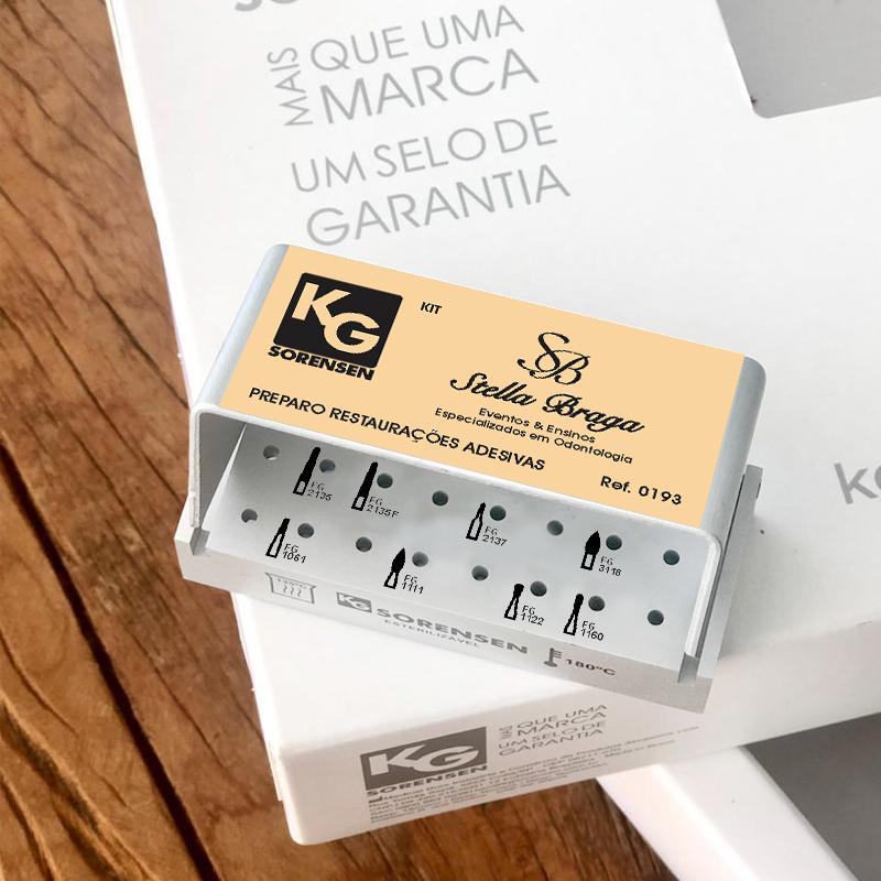 KIT Preparo restaurações adesivas - Ref.0193 - Profa. Stella Braga
