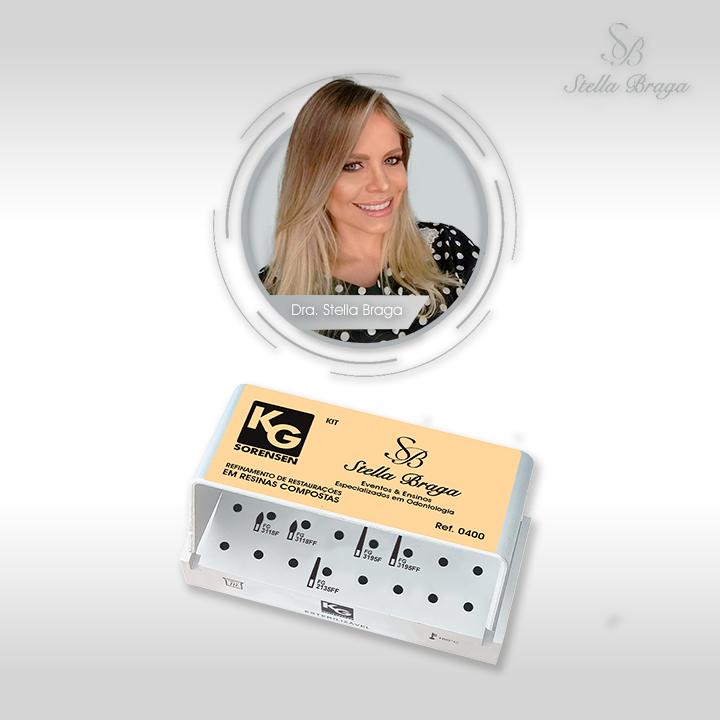 Kit Refinamento de Restaurações em Resinas Compostas - Profa. Stella Braga - Ref.0400 - KG SORENSEN
