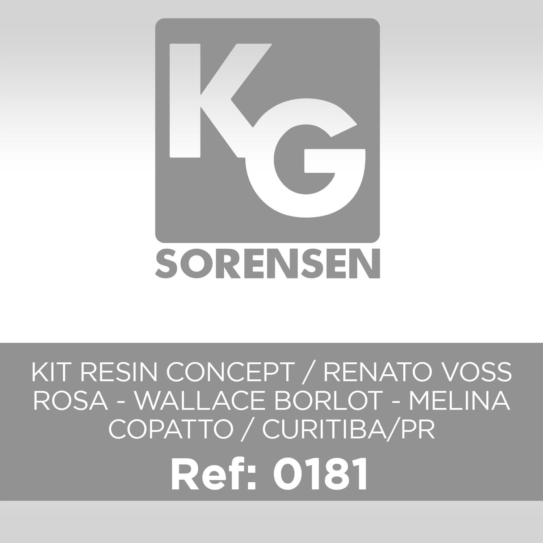 KIT RESIN CONCEPT / RENATO VOSS ROSA - WALLACE BORLOT - MELINA COPATTO / CURITIBA/PR