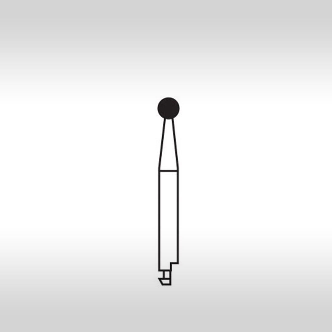 Ponta Diamantada Esférica CA 6 (Baixa Rotação) - KG Sorensen