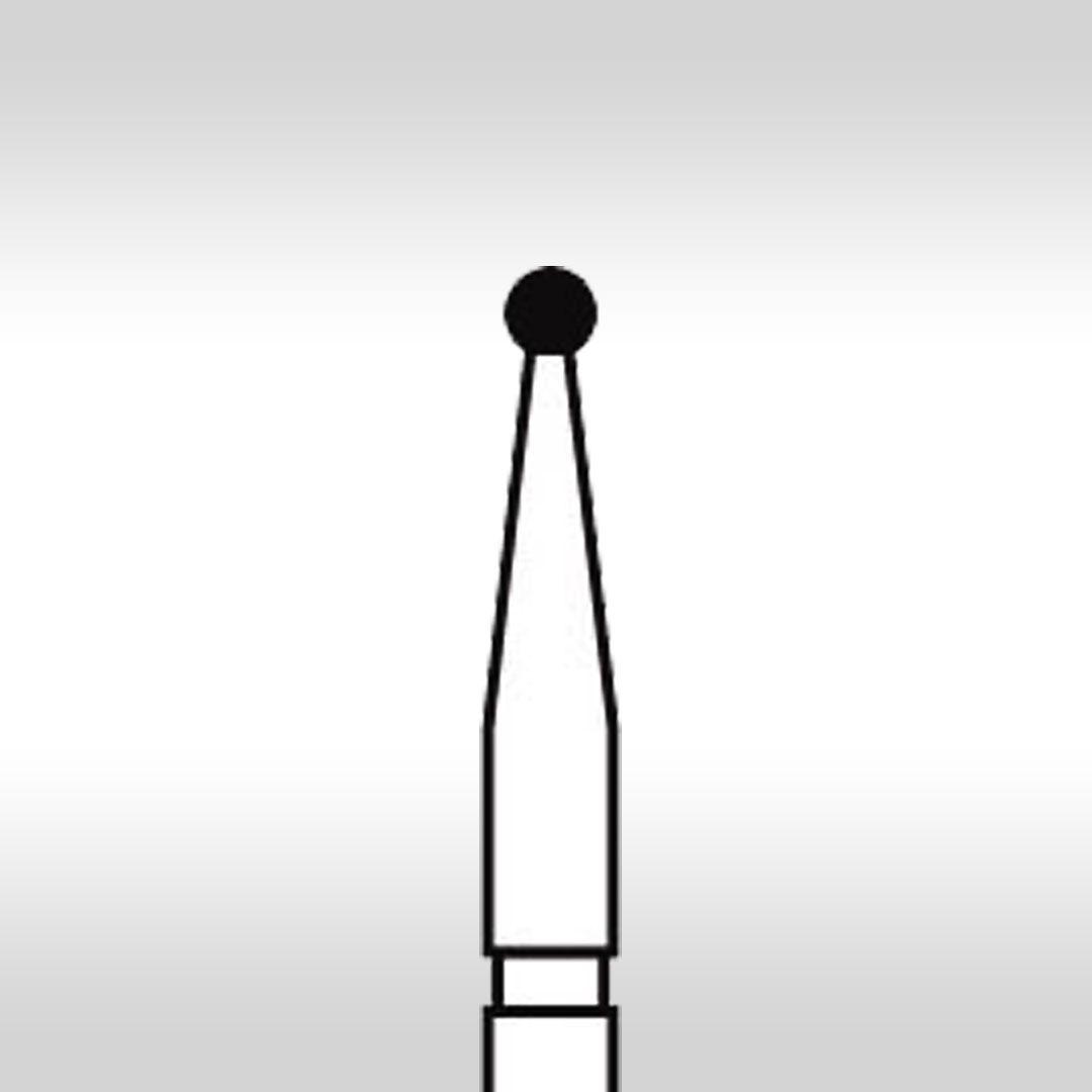 Ponta Diamantada Esférica FG 1012 - KG Sorensen