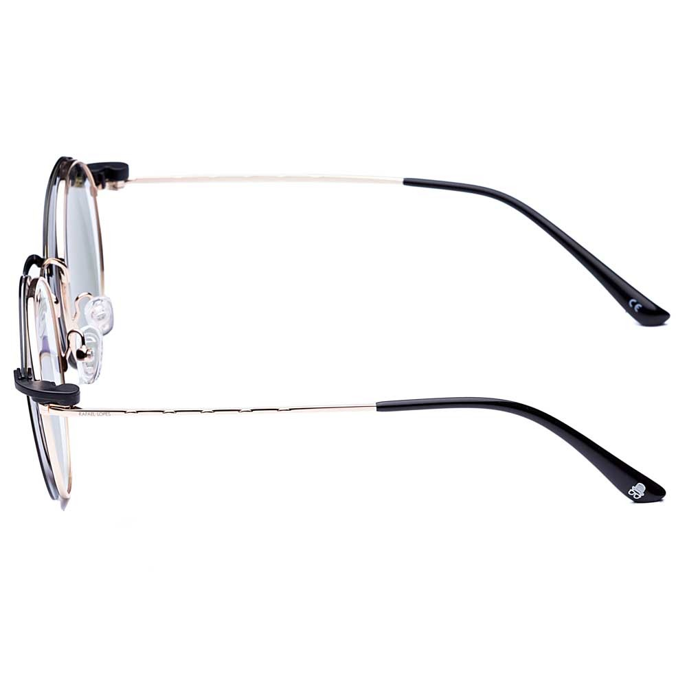 Óculos de Grau Round Clip On Rafael Lopes