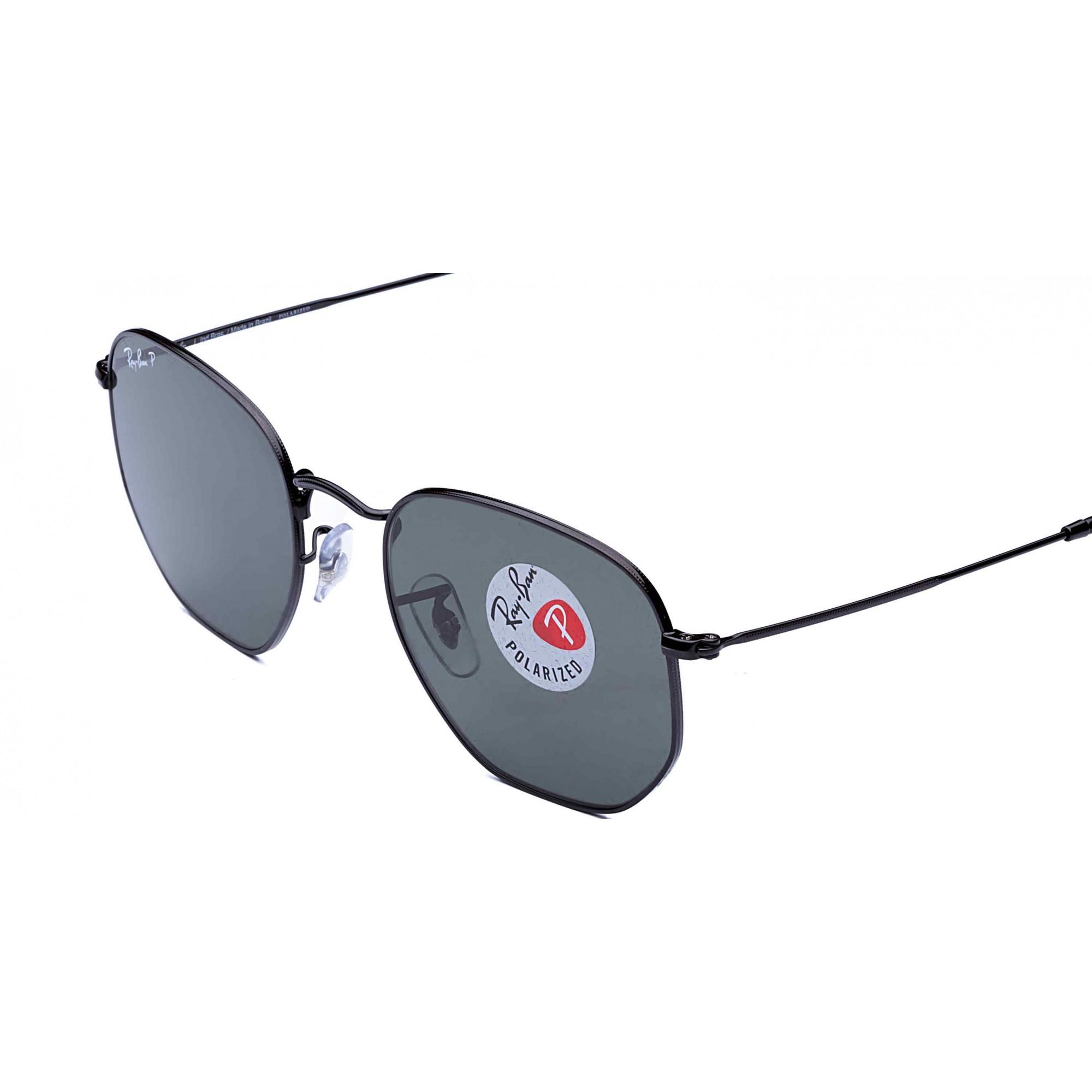 Óculos de Sol Hexagonal + Lente Solar com Grau