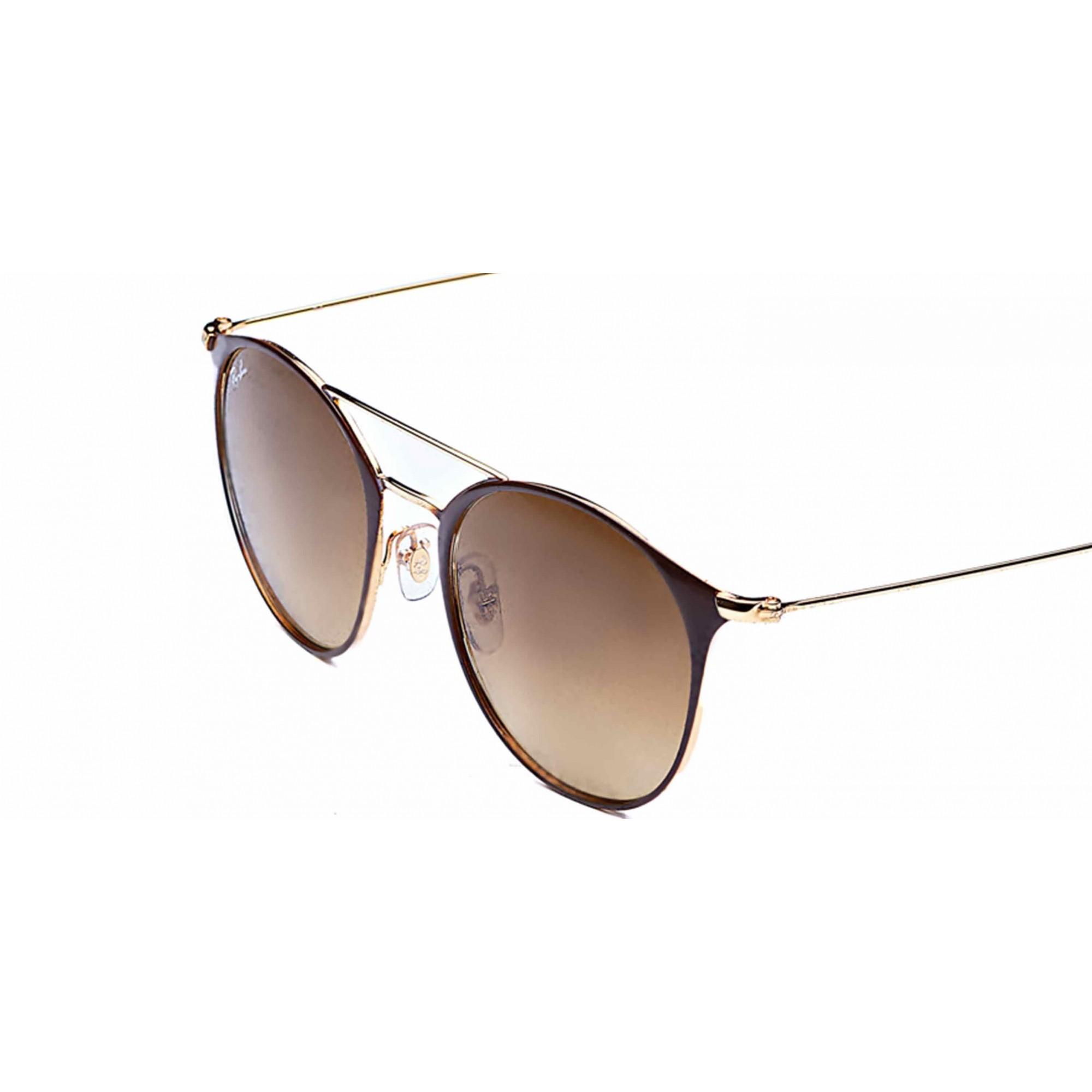 Óculos de Sol Round Metal Double Bridge + Lente Solar com Grau