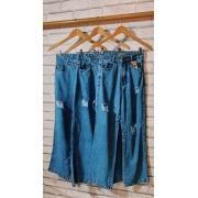 Calça Jeans Wide Midi