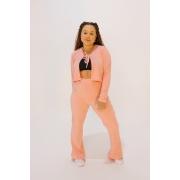Conjunto Tracy Rosa Candy (cardigan e calça)