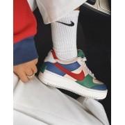 Nike Air Force Shadow Branco+Rosinha+Azul Marinho+Vermelho+Verde