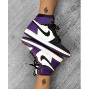 Nike  Air Jordan 1 Purple Toe