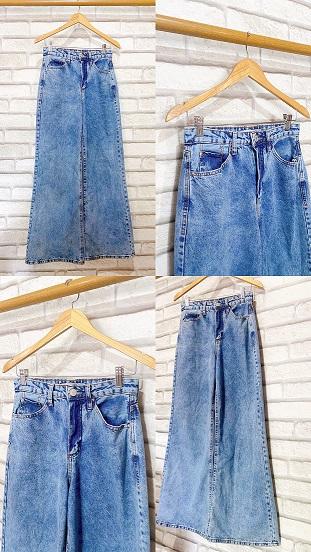 Calça Wide Jeans Lisa