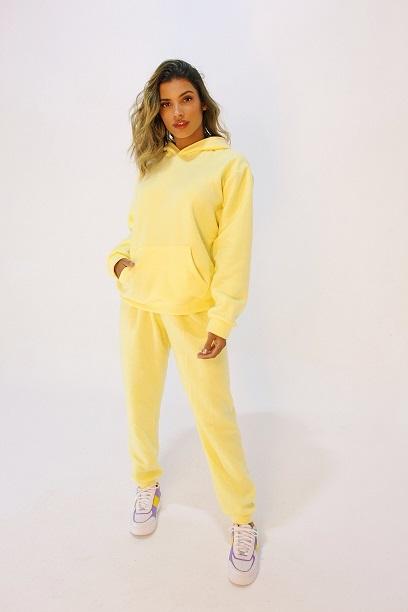 Conjunto Fairbanks Amarelo Candy (blusa, calça e short)