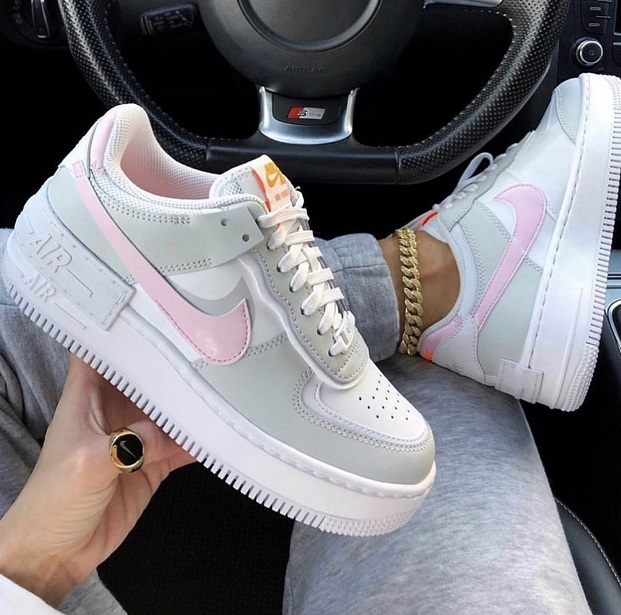 Tênis Nike Air Force 1 Shadow - Rosa e Cinza
