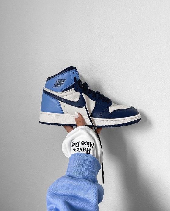 Tênis Nike Air Jordan Obsidian Blue - Azul