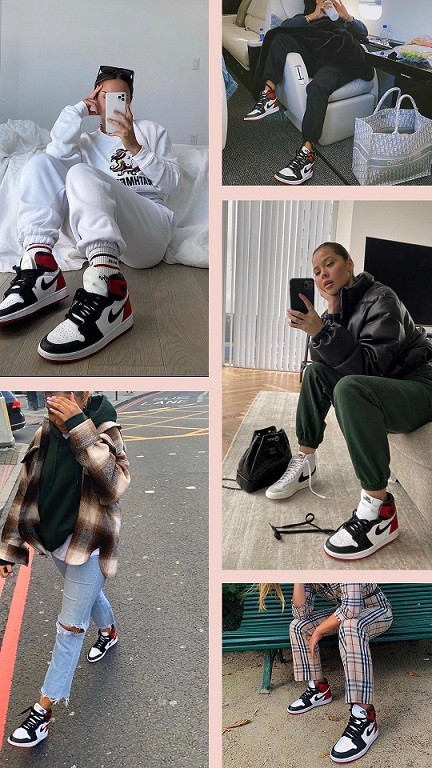 Nike Air Jordan 1 Preto/Branco/Vermelho
