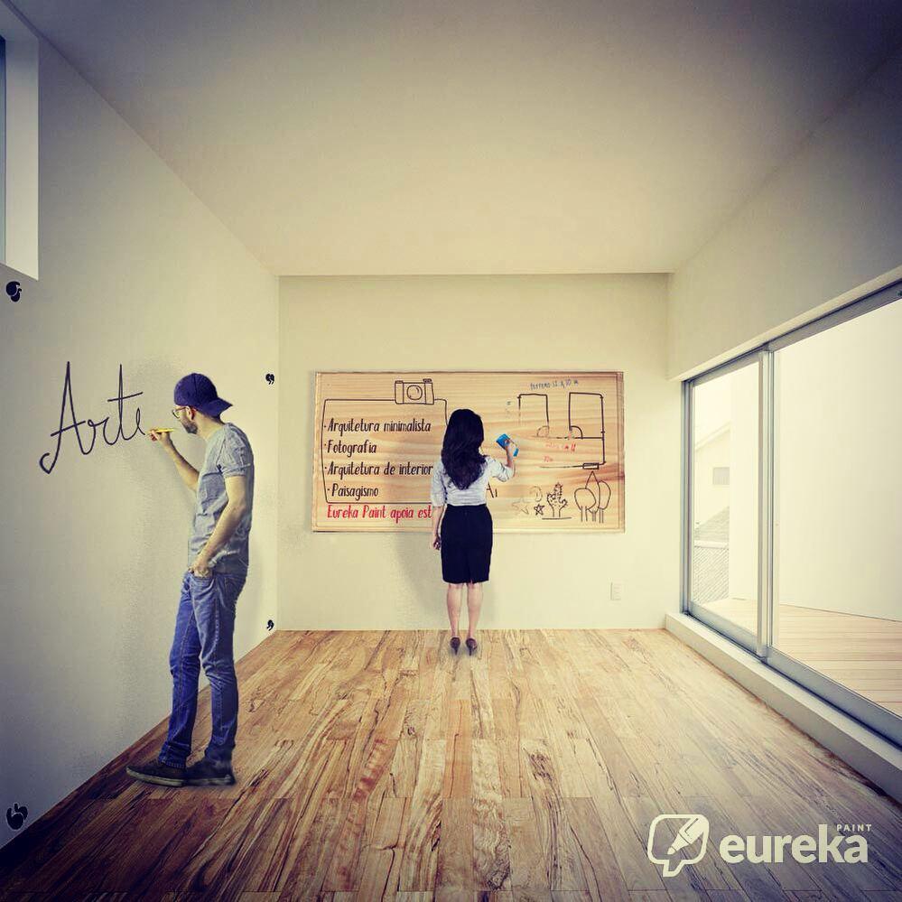 Kit Tinta Lousa Transparente 5m2 com Giz Líquido - Eureka Paint