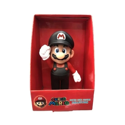 Boneco Colecionável Super Mario - Mario Roupa Preta