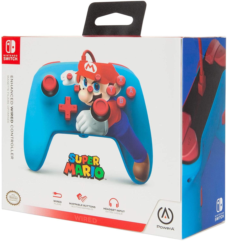 Controle PowerA Enhanced Wired - Mario Punch  - Nintendo Switch