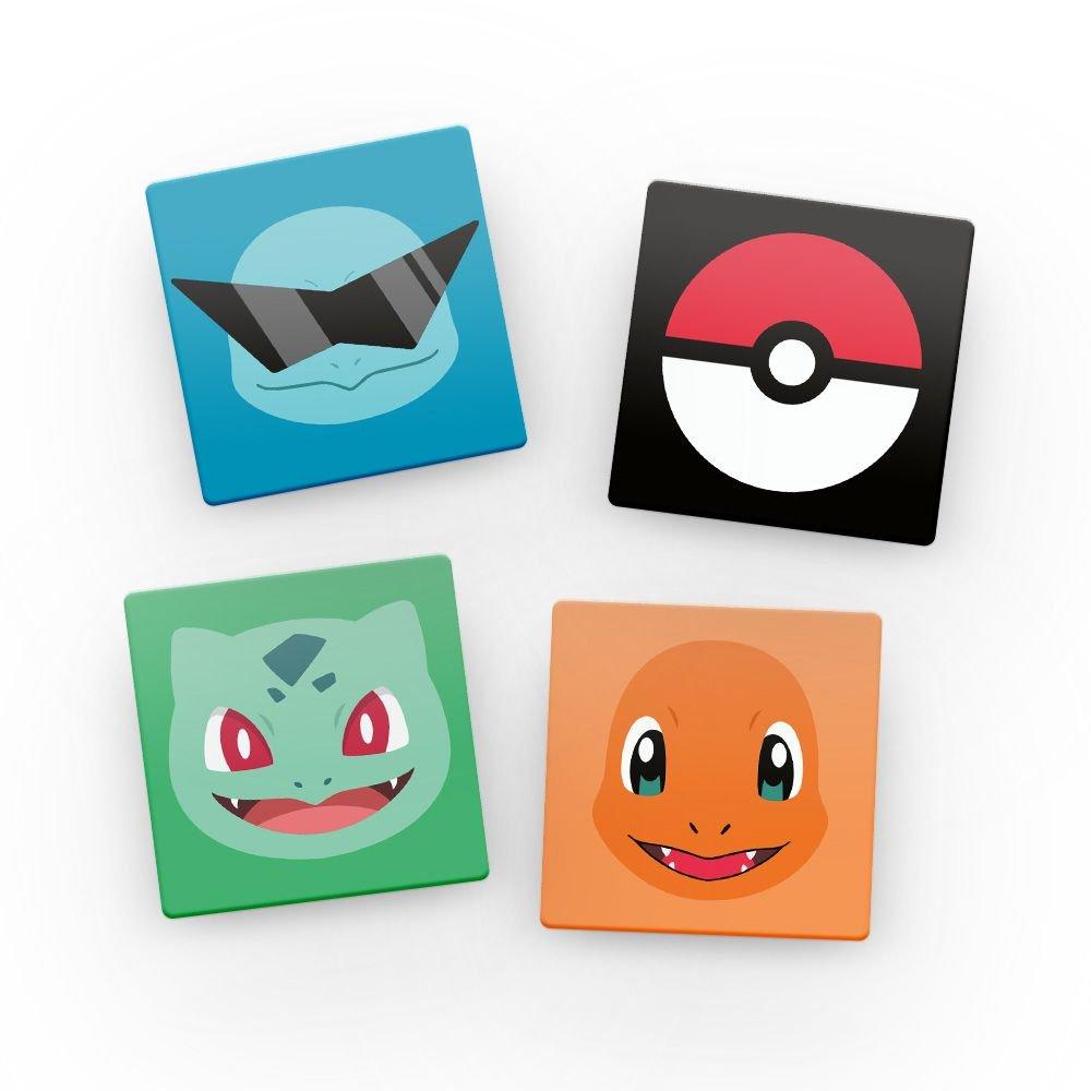 Kit Porta Copos de Acrílico Pokémon (4 Unidades)