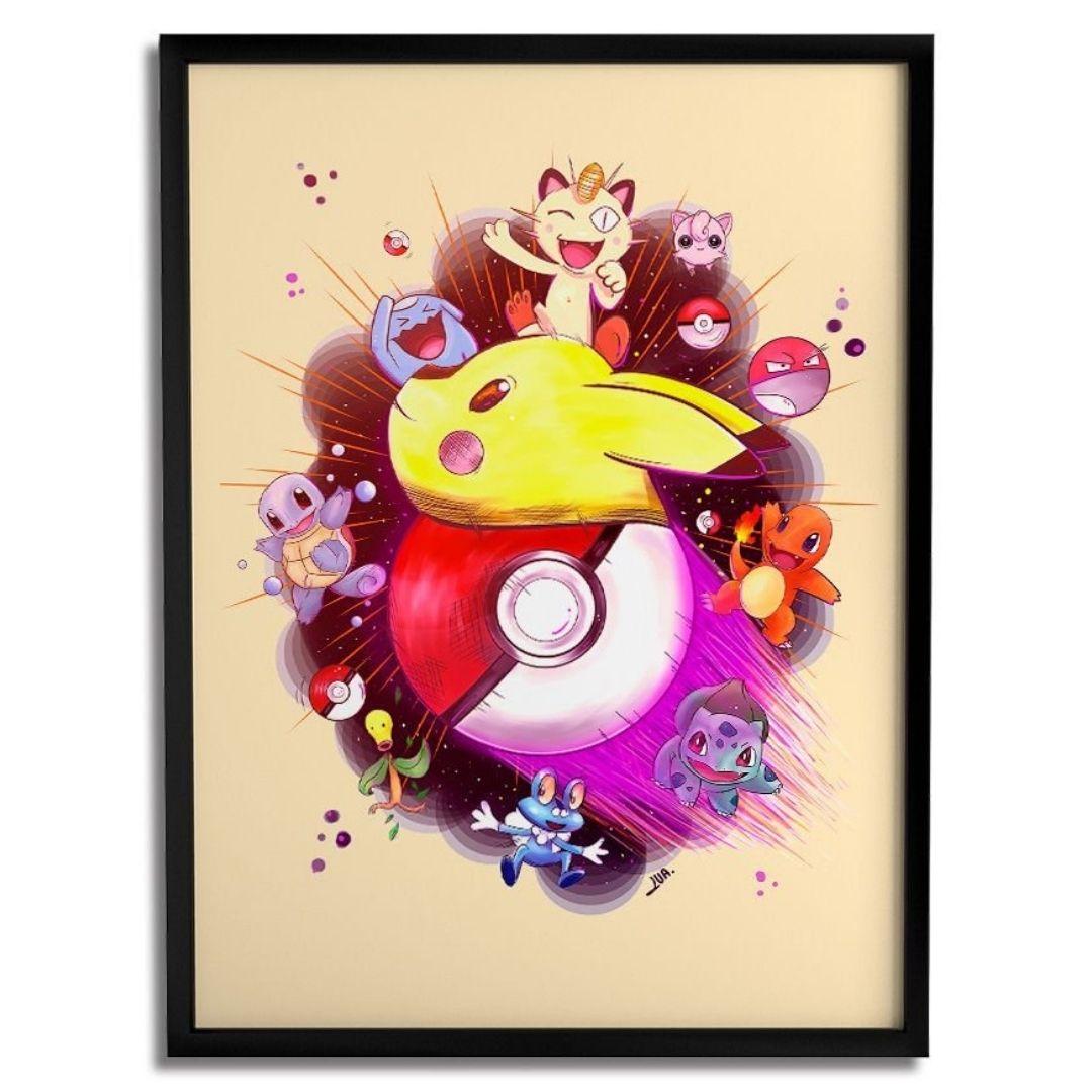 Quadro Decorativo - Pokémon - Lua Lins