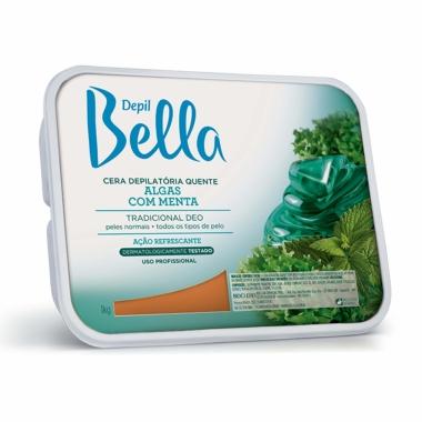 Cera Quente Depilatória Algas com Menta Depil Bella 1kg