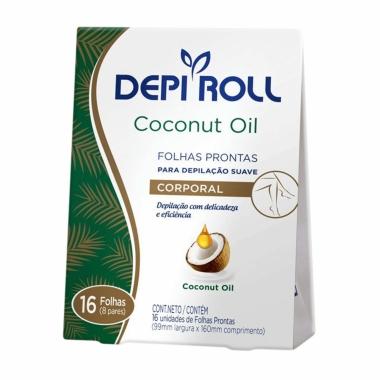 Folhas Prontas Para Depilação Corporal Coconut Oil Depi Roll 16un