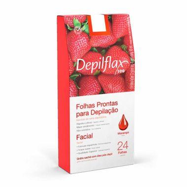 Folhas Prontas para Depilação Morango DepilFlax 24und
