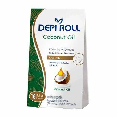 Folhas Prontas para Depilação Facial  Suave Coconut Oil Depi Roll 16fls
