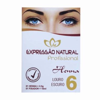 Henna 2,5g + Fixador 10ml Expressão Natural Louro Escuro