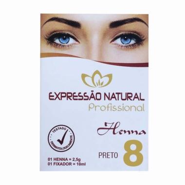 Henna 2,5g + Fixador 10ml Expressão Natural Preto