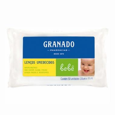 Lenços Umedecidos Bebê Granado 50un