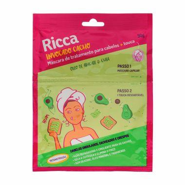 Mascara Capilar de Tratamento para Cabelos + Touca Óleo de Abacate e Chia- Ricca