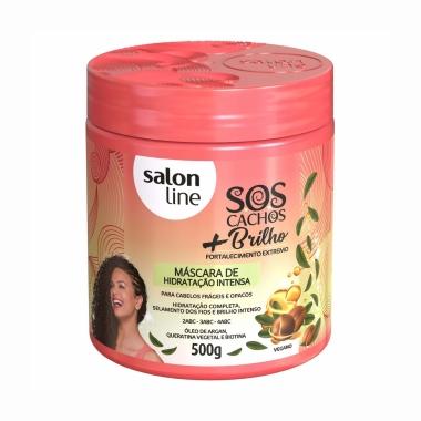 Máscara de Hidratação Intensa + Brilho Sos Cachos - Salon Line 500g