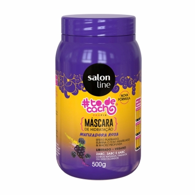 Máscara de Hidratação Matizadora Roxa #Todecacho Salon Line 500g