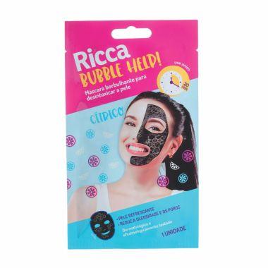 Máscara Facial Borbulhante Para Limpeza De Pele Ricca Cod. 3753