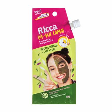 Máscara Facial de Argila Natural Argila Kaolin + Chá Verde - Ricca
