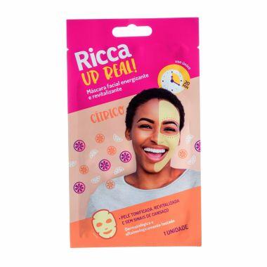 Máscara Facial energizante e revitalizante Up Real Ricca Cod. 3756
