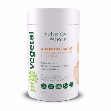 Pro Vegetal Advanced Detox - Creme De Massagem Corporal Extratos Da Terra 700g