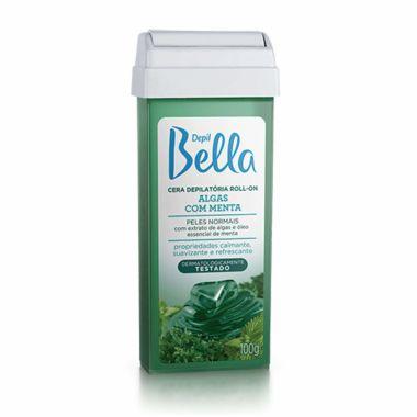 Refil Cera Depilatória Roll-on Algas com Menta Depil Bella 100g