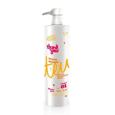 Shampoo de Tratamento T.E.U. Thank You Paso 1 - 1 Litro Antirresíduo e Pré-Químicas