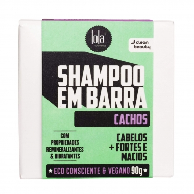 Shampoo Em Barra Cachos Lola Cosmetics 90g