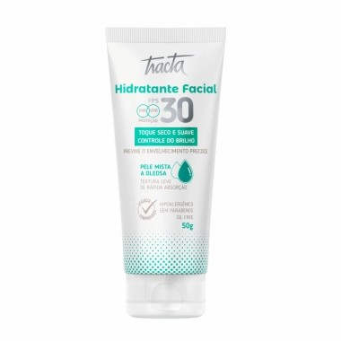 Hidratante Facial Pele Mista a Oleosa FPS30 Tracta  50g
