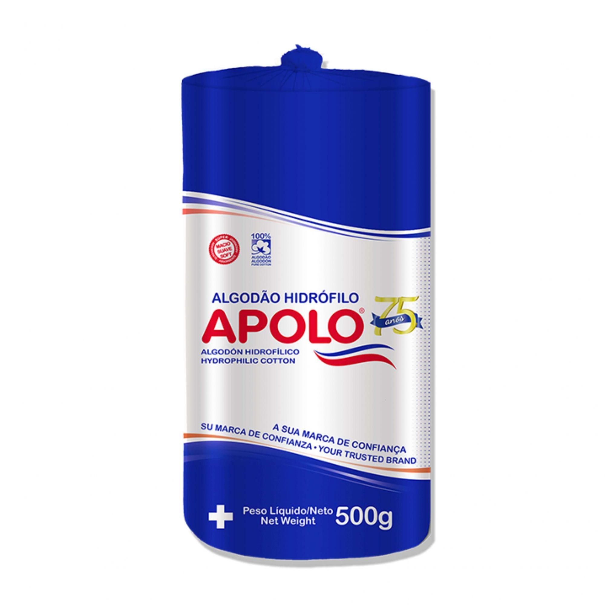 Algodao Apolo Rolo Hidrofilo 500g