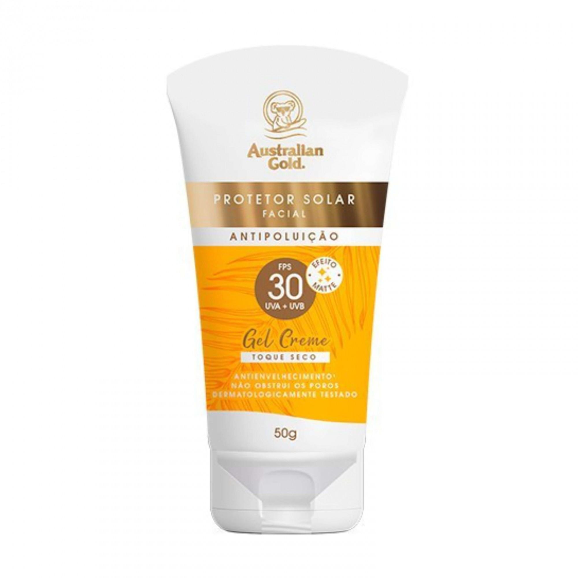 Australian Gold Antipoluição FPS 30 - Protetor Solar Facial 50g