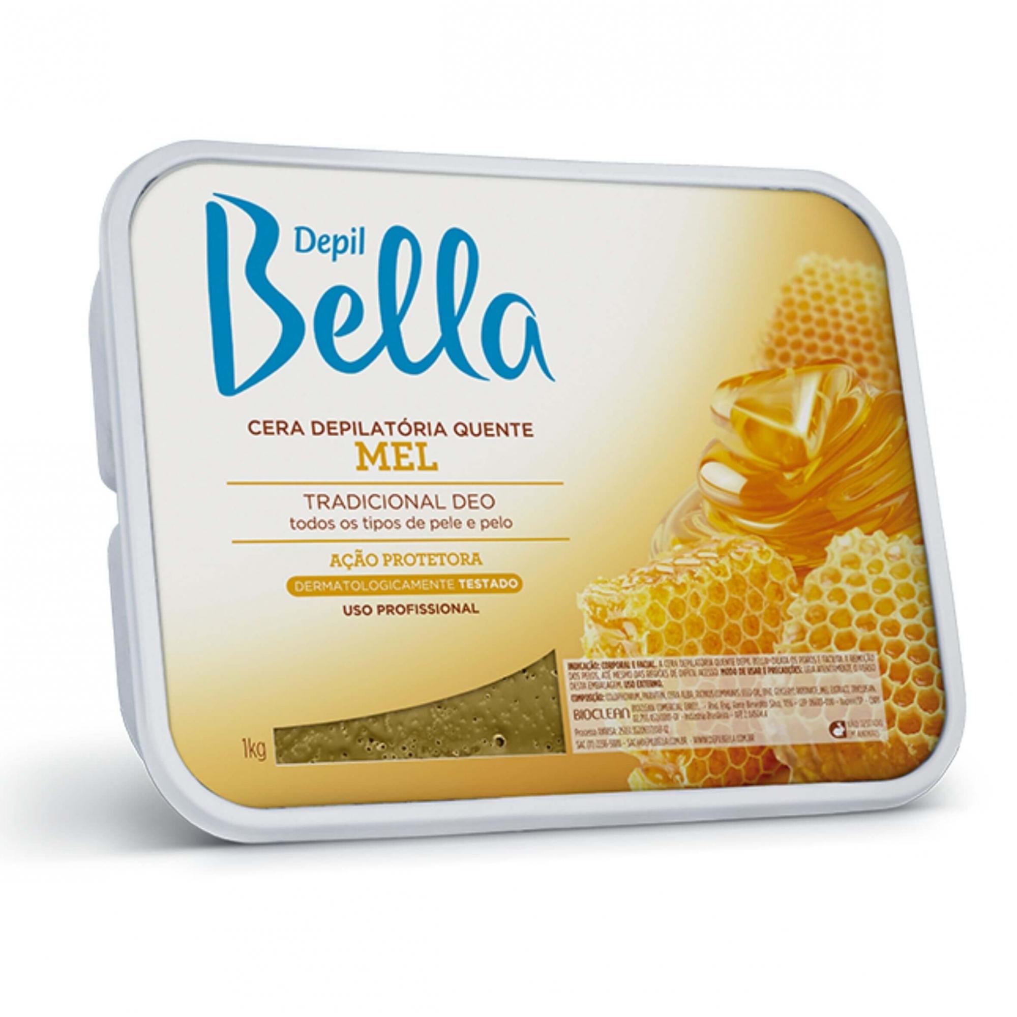 Cera Depilatória Quente Mel Depil Bella 1kg